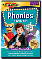 Phonics 4 DVD Set from Rock 'N Learn (New) RL329 - Covers All Phonics Rules