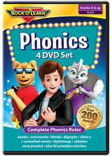 Phonics 4 DVD Set from Rock 'N Learn (New)