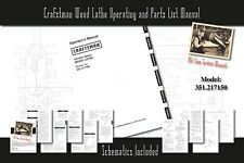 Craftsman Wood Lathe 351217150 Service Owners Manual Parts List