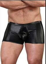 Male Power Erotic Black Extreme Double Slit Access  Boxer S/M (Ships Same Day!)