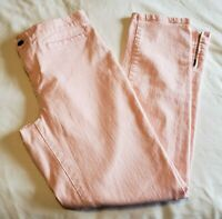 Ralph Lauren Womens Jeans Size 4 High-Rise Pink Zippered Ankles  Slim