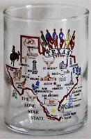 "Texas Lone Star State Shot Glass Flags Bull Riding 2 1/4"" High"