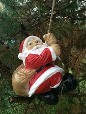 Weihnachtsmann  Nikolaus am Seil 30 cm groß UNIKAT! DEKO