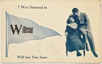 "Willmar, MN Minnesota Antique Pendant Postcard ""I Was Detained"""