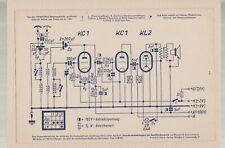 1943 Funkschau Schaltungskarten - Einkreis Dreiröhren Empfänger für Batterie