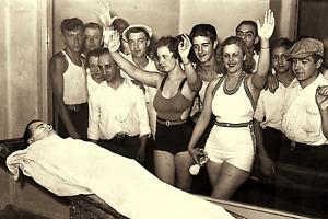 "1934 POST MORTEM John Dillinger True Crime Viewing in Chicago 4""x6"" Reprint JD1"