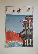 Le Noël du roi Mandjar avec 12 superbes aquarelles d'ARY LEBLOND 1926 rare