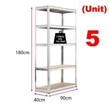 Heavy Duty 5 Tier Shelf Shelving Garage Storage Racking Shed Office 150cm 875kgs