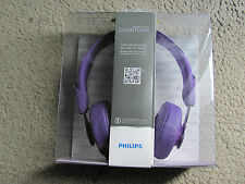 Philips SHL5605PP/28 Citiscape Collection Downtown Headphones with Mic (Purple)