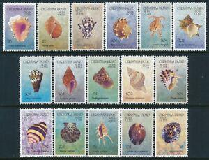 1992 CHRISTMAS ISLAND SHELLS SET OF 16 FINE MINT MNH
