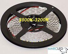 24VDC SMD3528 LED strip 2800K-3200K, 5m (48W, 600LEDs), IP20 120LEDs/m 9.6W/m