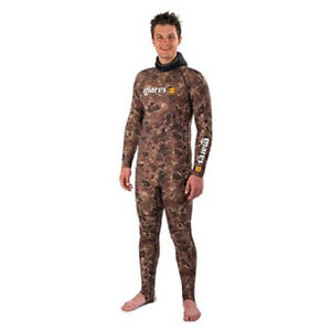 Mares Rash Guard Camouflage Brown Set For Diving Snorkeling Spearfishing