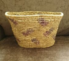 Oval Wicker Storage Basket Fruit Bread Bin Knitting Crochet Homeware Rustic