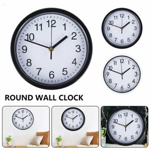 Round Wall Clock Quartz Square Wall Clock Silent Non-Ticking Battery Operated