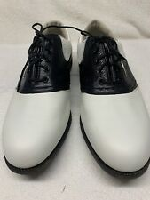 FOOTJOY Women's 10 M SIERRA TREKS Golf Shoes White/Black #98725