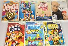 Wii-Juegos De Estrategia-Tetris/Bust a Move/Boom Blox/Jenga etc. * Elija un juego *