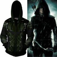 Superhero Arrow Series 3D Printed Hoodie Cosplay Hooded Sweatershirt Coat