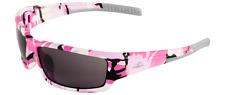 Bullhead Maki Pink Camo Frame Smoke Lens Safety Sun Glasses Ballistic Rated