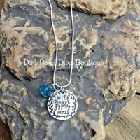 """WILD HEART, GYPSY SOUL Charm Necklace on 18"""" Sterling Silver Chain w/ Gift Box"""