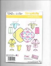 Simplicity Baby Layette  Boy Girl   Pattern 1042
