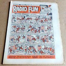 "VINTAGE  FLEETWAY  ""RADIO FUN""  COMIC #551  DATED APRIL 30th 1949"