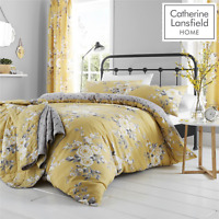 Catherine Lansfield Canterbury Ochre Duvet Cover Bedding Set Wallpaper Curtains
