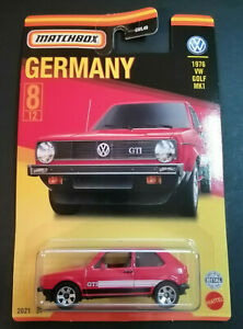 "MATCHBOX 2021 VW VOLKSWAGEN 1976 GOLF GTI "" BEST OF GERMANY "" NEU & OVP"