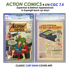 "ACTION COMICS # 270 CGC 7.5 Classic ""OLD AGE"" SUPERMAN tale: COOL 80 PG tie-in!"