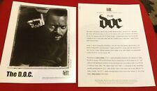 THE D.O.C. RARE 1995 ORIG Helter Skelter PRESS KIT PHOTO RAP HIP HOP DR. DRE DOC