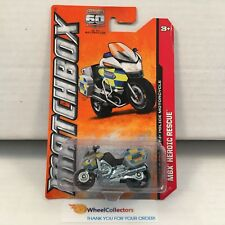 BMW R-1200 RT-P Police Motorcycle * Silver * Matchbox * G14