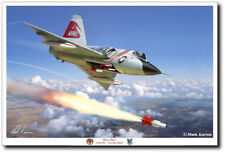 "Toro One by Mark Karvon - F-106 Delta Dart 87th FIS ""Red Bulls"" - Aviation Art"