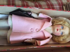 Vintage 19 inch Cloth Lenci Doll Circa 1930's w Original Outfit and accessories
