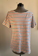 J Crew NEW Women's Striped Red White & Blue T Shirt Size Large $45.00