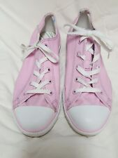 Converse All Star Low Top Light Pink Junior Shoes Size 5 EUC