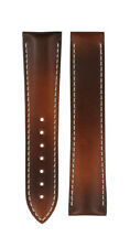 Genuine Omega CALF leather 21mm x 18mm BROWN WATCH BAND STRAP