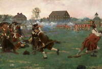 Howard Pyle The Fight On Lexington Common Poster Giclee Canvas Print