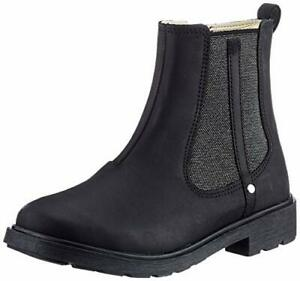 Clarks ASTROL ORIN Girls Black Leather Zip Boots Larger Sizes 4.5 & 5F Fit BNIB