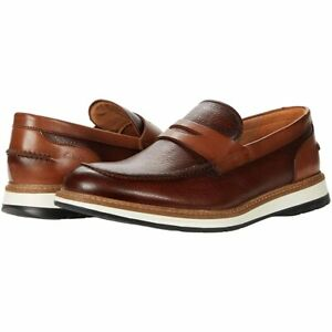 Men's Shoes Clarks CHANTRY PENNY Leather Slip On Loafers 57984 TAN
