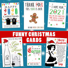 Funny Rude Christmas Card Mum Dad Best Friend Sister Brother Son Daughter Couple