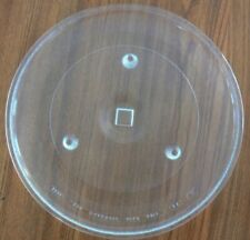 """13 3/4"""" GE Microwave Turntable Replacement Glass Tray 10 1/4"""" Roller Ring Used"""