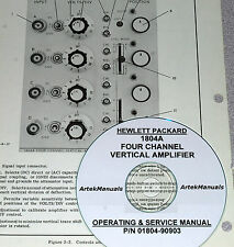 Hewlett Packard Ops & Service Manual for the 1804A 4 Channel Vertical Amplifier