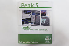 Original Bias Sound Creative Peak 5 Professional Edition Software User's Guide