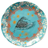 Anthropologie Miniature Plate Hummingbird Collectible Stoneware DW MW Safe