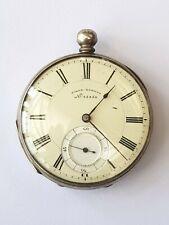 Antique-Swiss Silver Cased Pocket Watch-Girod Geneve-Non Runner-circa 1880's