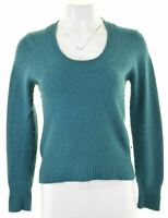 HOBBS Womens Crew Neck Jumper Sweater Size 10 Small Blue Lambswool  GR02