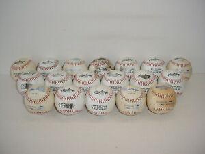 Lot of 18 Baseballs Rawlings MacGregor Practice Balls
