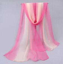 Foulard Femme Uni Dégradé Rose et Abricot  - Bijoux des Lys