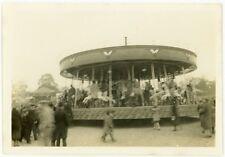 Merry Go Round Carousel Amusement Park Ride Horse Carnival Circus Antique Photo