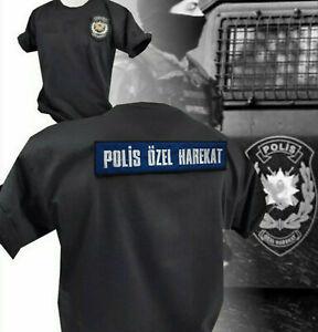 Türk Polis T-Shirt Türkei Türkiye Özel Harekat Asker Göktürk Bozkurt Patch Shirt