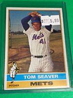 🔥 1976 TOPPS Baseball Card Set #600 🔥NEW YORK METS 🔥 TOM SEAVER